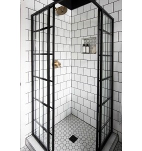 Cabina de dus Shower ovala100*100 sticla mat...